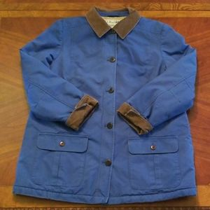 L.L. Bean Blue Chore Canvas Lined Barn Coat